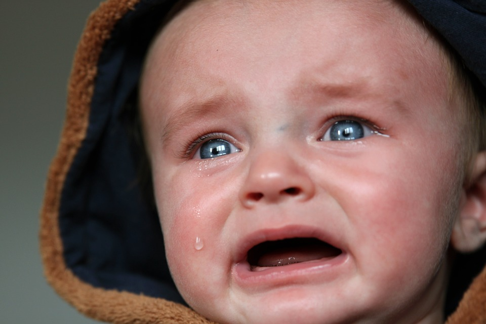Chidlren in chronic pain will often cry like this baby.