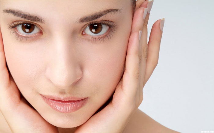 Perfect skin as achieved through topical application of CBD.