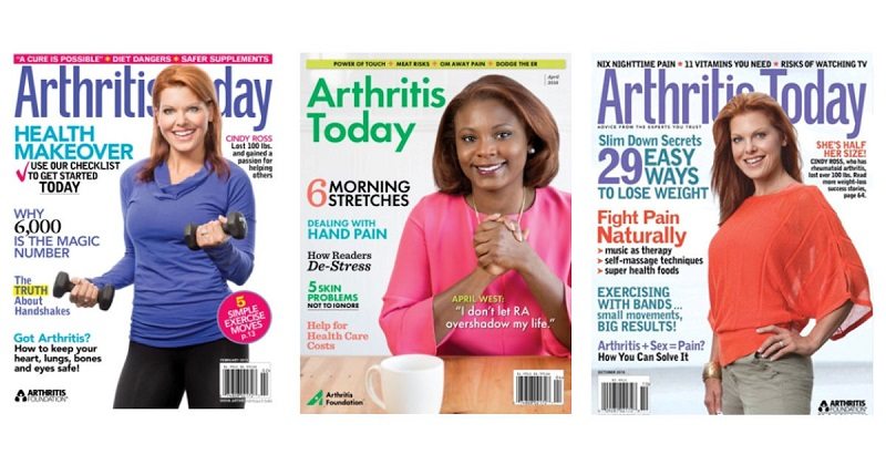 Three covers of recent issues. It's a great way to learn more about your condition.