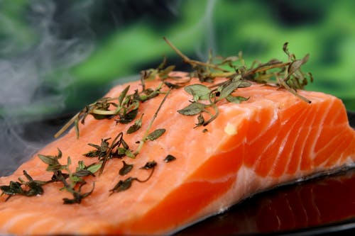 wild salmon with herbs for remedies for inflammation
